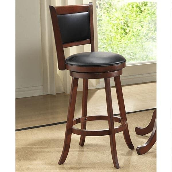 Walnut Upholstered Counter Stool by ECI Furniture