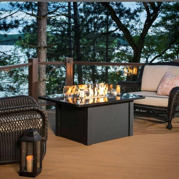 Grandstone Fire Pit Table - Black by Outdoor GreatRoom