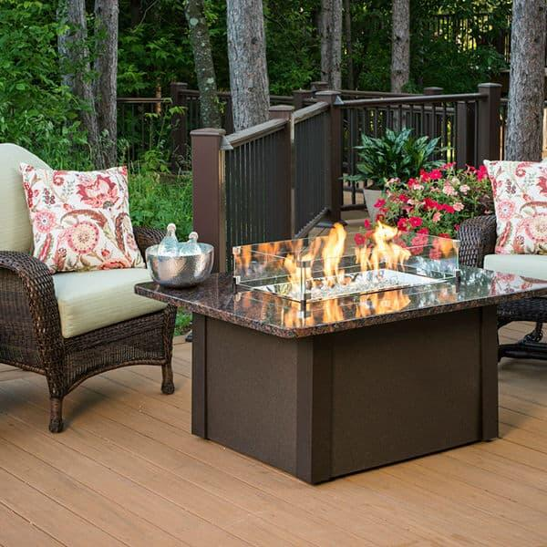 Grandstone Fire Pit Table - Brown by Outdoor GreatRoom