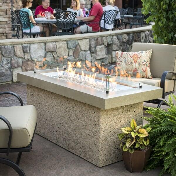 Key Largo Fire Pit Table - Brown by Outdoor GreatRoom
