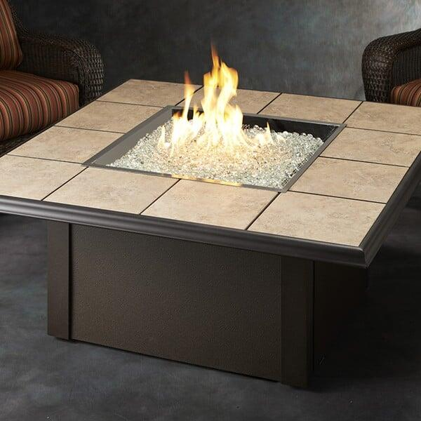 Napa Valley Fire Pit Table - Crystal by Outdoor GreatRoom