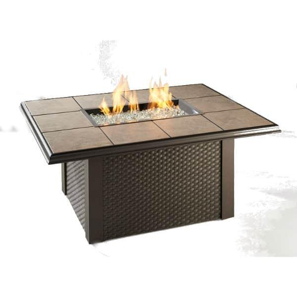 Napa Valley Fire Pit Table - Wicker by Outdoor GreatRoom