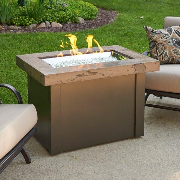 Providence Fire Pit Table - Brown by Outdoor GreatRoom