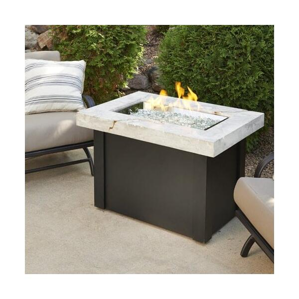 Providence Fire Pit Table - White Onyx by Outdoor GreatRoom
