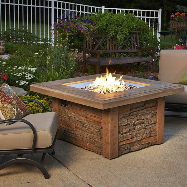 Sierra Fire Pit Table - Square by Outdoor GreatRoom