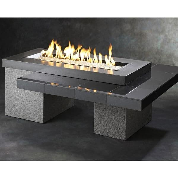 Uptown Fire Pit Table - Black by Outdoor GreatRoom