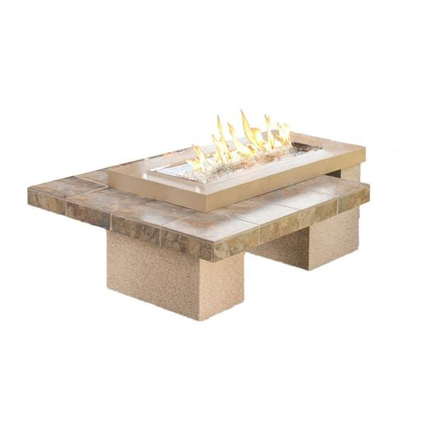 Uptown Fire Pit Table - Brown by Outdoor GreatRoom