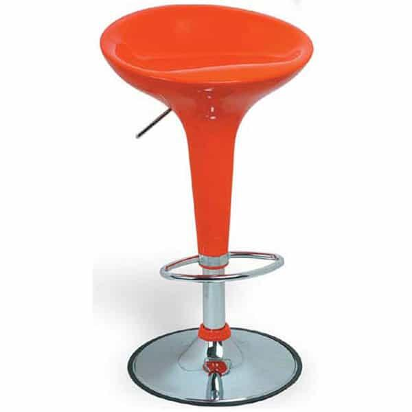 Adjustable Height Bar Stool Elroy Red By Leisure Select