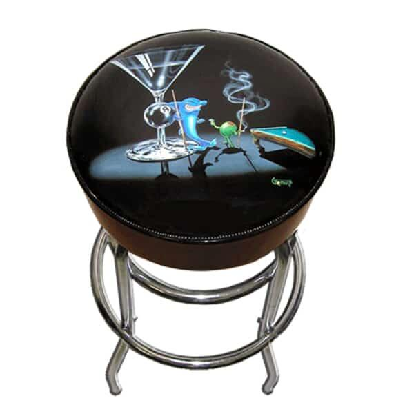 Pool Shark Bar Stool by Michael Godard