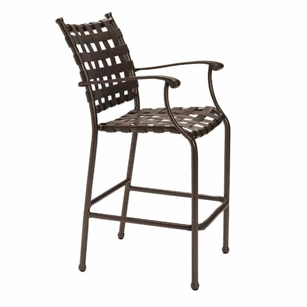 Sorrento Cross Strap Bar Stool by Tropitone