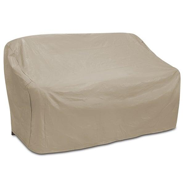 Oversize 2 Seat Wicker Sofa Cover by Protective Covers Inc