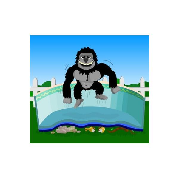 Gorilla Floor Padding Oval Pools by Family Leisure
