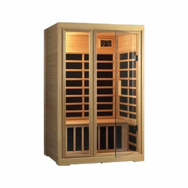 Far-Infrared Carbon Flex 2 Person Sauna by Saunatec
