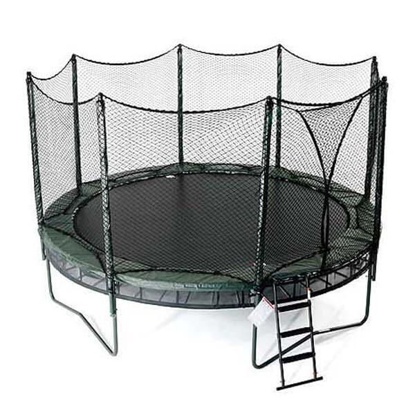 14' Double Bounce Trampoline w/ Enclosure by AlleyOop Sports