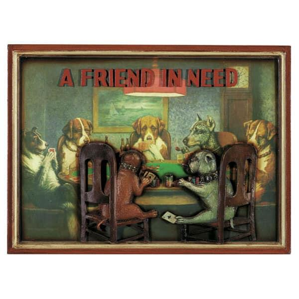 A Friend In Need Wall Art by R.A.M. Game Room