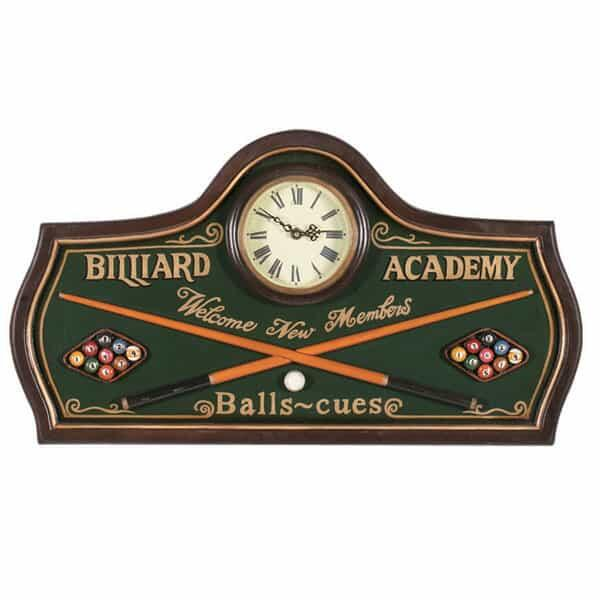 Billiard Academy Wall Clock by R.A.M. Game Room