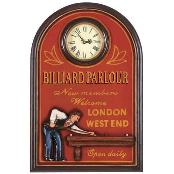 Billiard Parlour Clock by R.A.M. Game Room