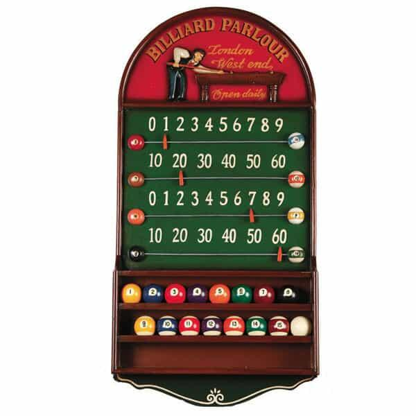 Billiard Parlour Scoreboard & Ball Holder by R.A.M. Game Room