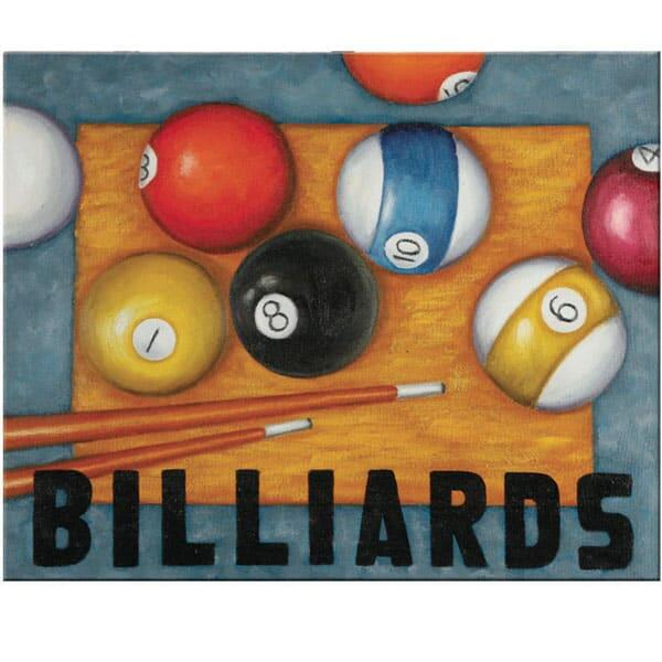 billiards wall art. Black Bedroom Furniture Sets. Home Design Ideas