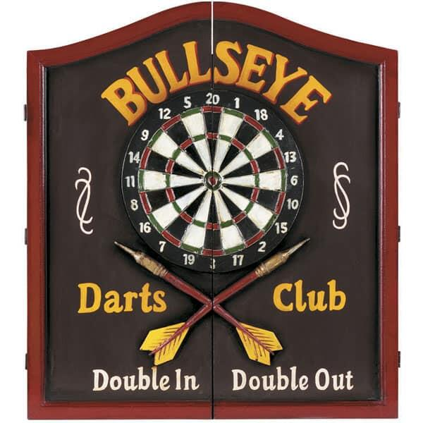Bullseye Wooden Dartboard Cabinet by R.A.M. Game Room