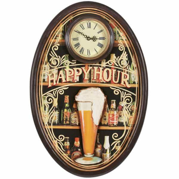 Happy Hour Clock by R.A.M. Game Room