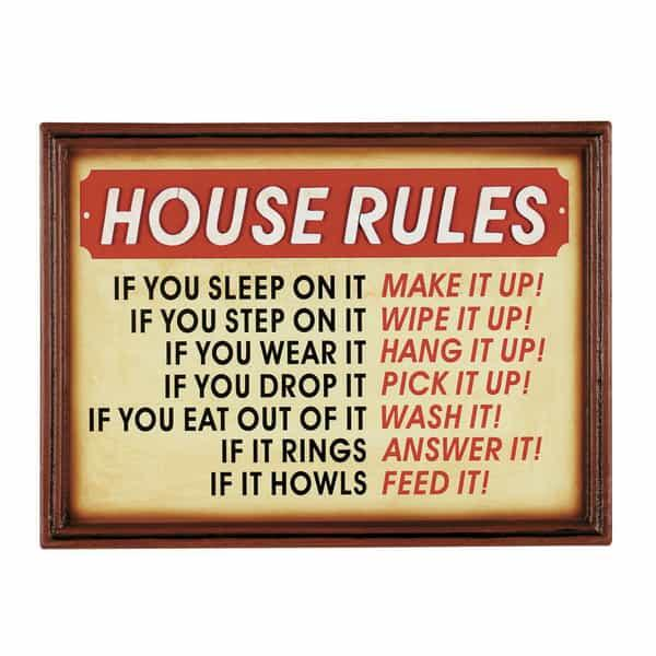 House Rules Wall Art by R.A.M. Game Room