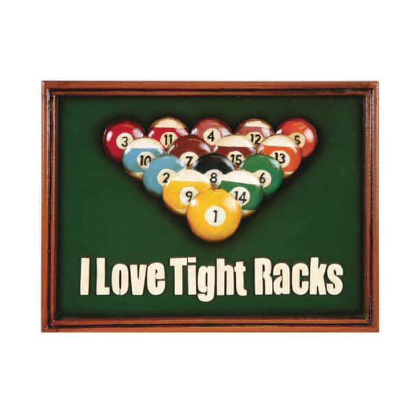 I Love Tight Racks Wall Art by R.A.M. Game Room