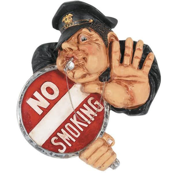 No Smoking Officer Wall Art by R.A.M. Game Room