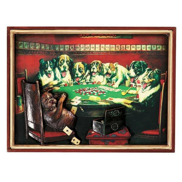 Poker Dogs Under Table Wall Art by R.A.M. Game Room