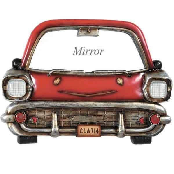 Red Car with Mirror Wall Art by R.A.M. Game Room