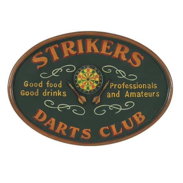 Strikers Darts Club Wall Art by R.A.M. Game Room