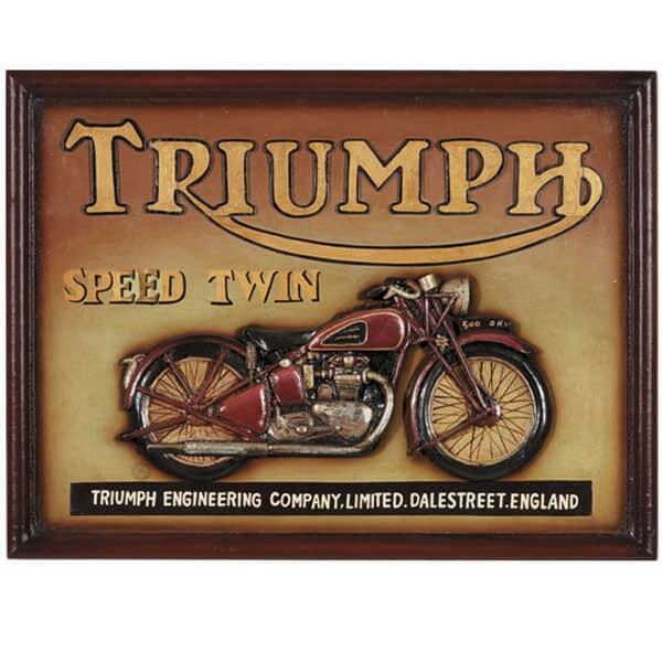 Triumph Speed Twin Wall Art by R.A.M. Game Room