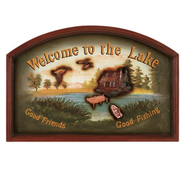 Welcome To The Lake Wall Art by R.A.M. Game Room