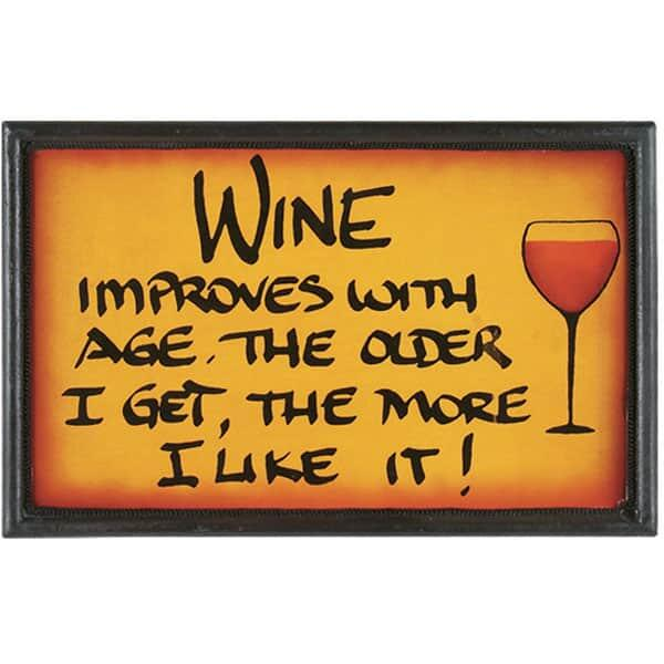 Wine Improves with Age Wall Art by R.A.M. Game Room
