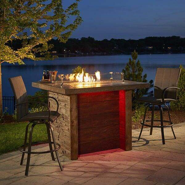 Marquee Fire Pit Island Table by Outdoor GreatRoom
