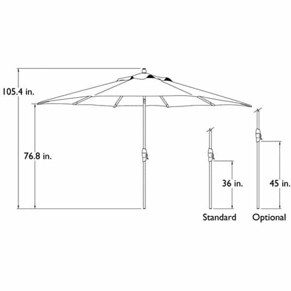 11 Ft. Deluxe Auto Tilt Umbrella by Treasure Garden