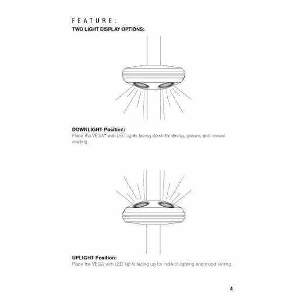 4 Light Vega Umbrella Lamp by Treasure Garden