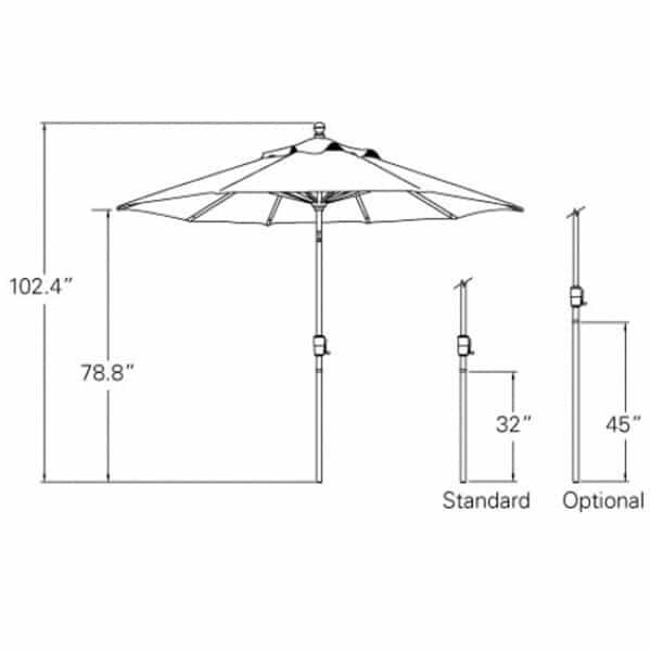 9 Ft. Push Button Tilt Umbrella by Treasure Garden