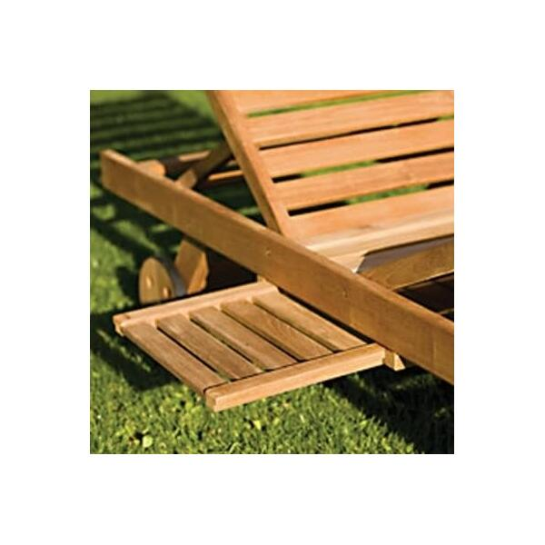 Sun Bed Chaise Lounge by Royal Teak Collection