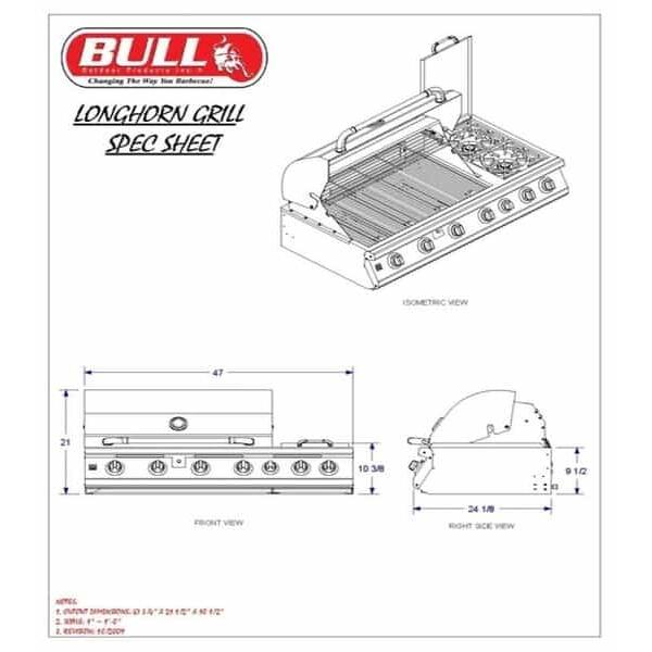 7 Burner Premium - Natural Gas by Bull Grills