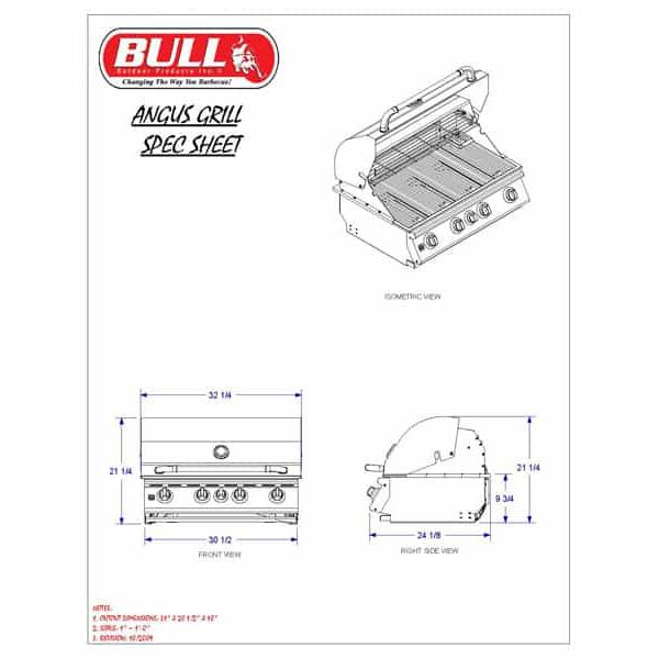 Angus Cart - Natural Gas by Bull Grills