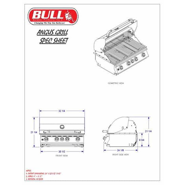 Angus Grill Head - Propane by Bull Grills
