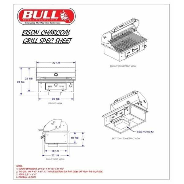 Bison Grill Head - Charcoal by Bull Grills