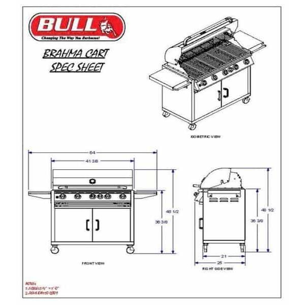Brahma Cart - Natural Gas by Bull Grills