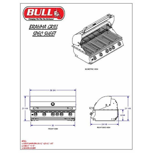 Brahma Cart - Propane by Bull Grills