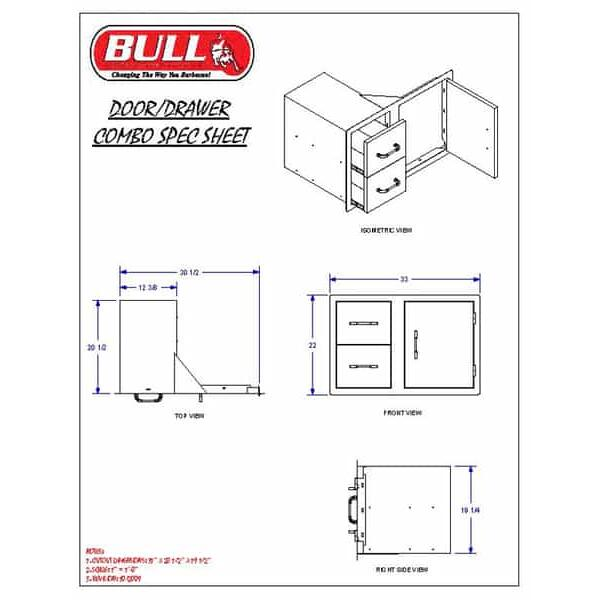 Door  Drawer Combo by Bull Grills