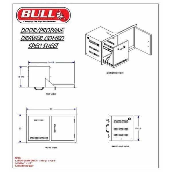 Door Propane Drawer Combo by Bull Grills
