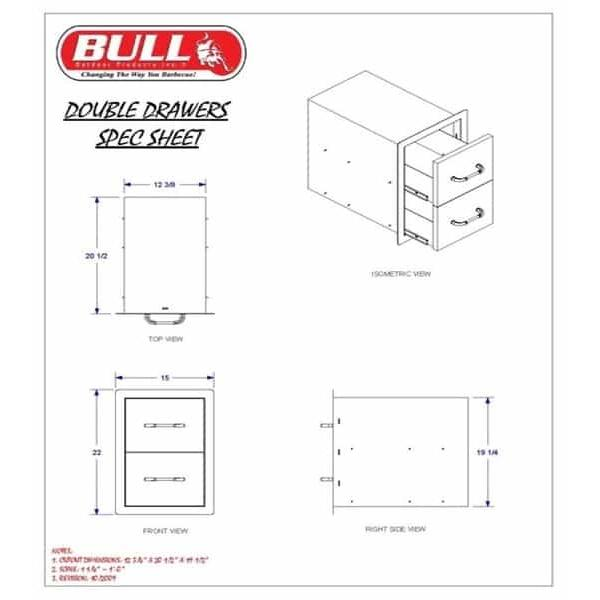 Double Storage Drawer by Bull Grills