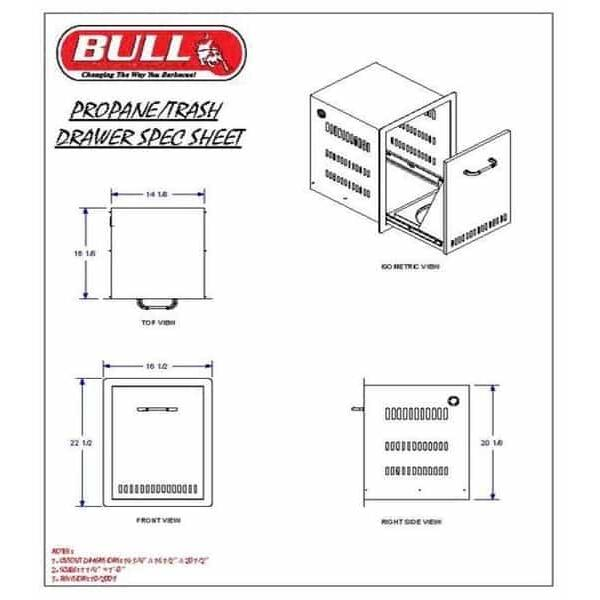 Propane or Trash Drawer by Bull Grills