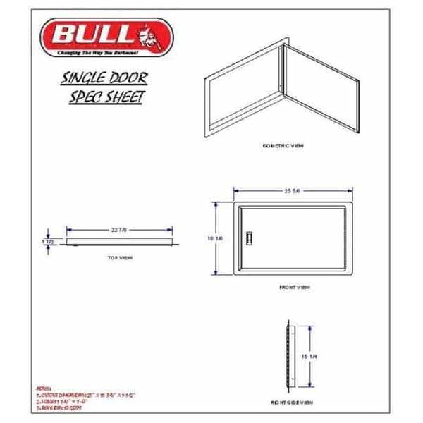 Single Horizontal Door by Bull Grills